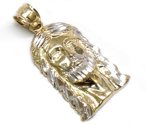 10K Gold Jesus Piece with Diamond Cuts JS065 King Johnny