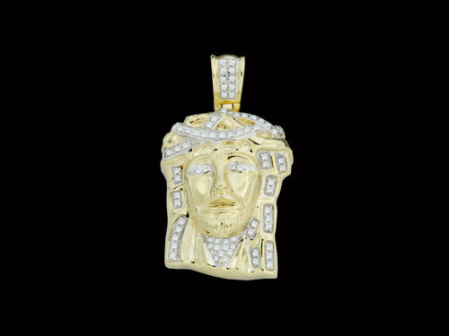 King johnny johnnys custom jewelry 10k gold 020ct diamonds jesus pendant aloadofball Image collections