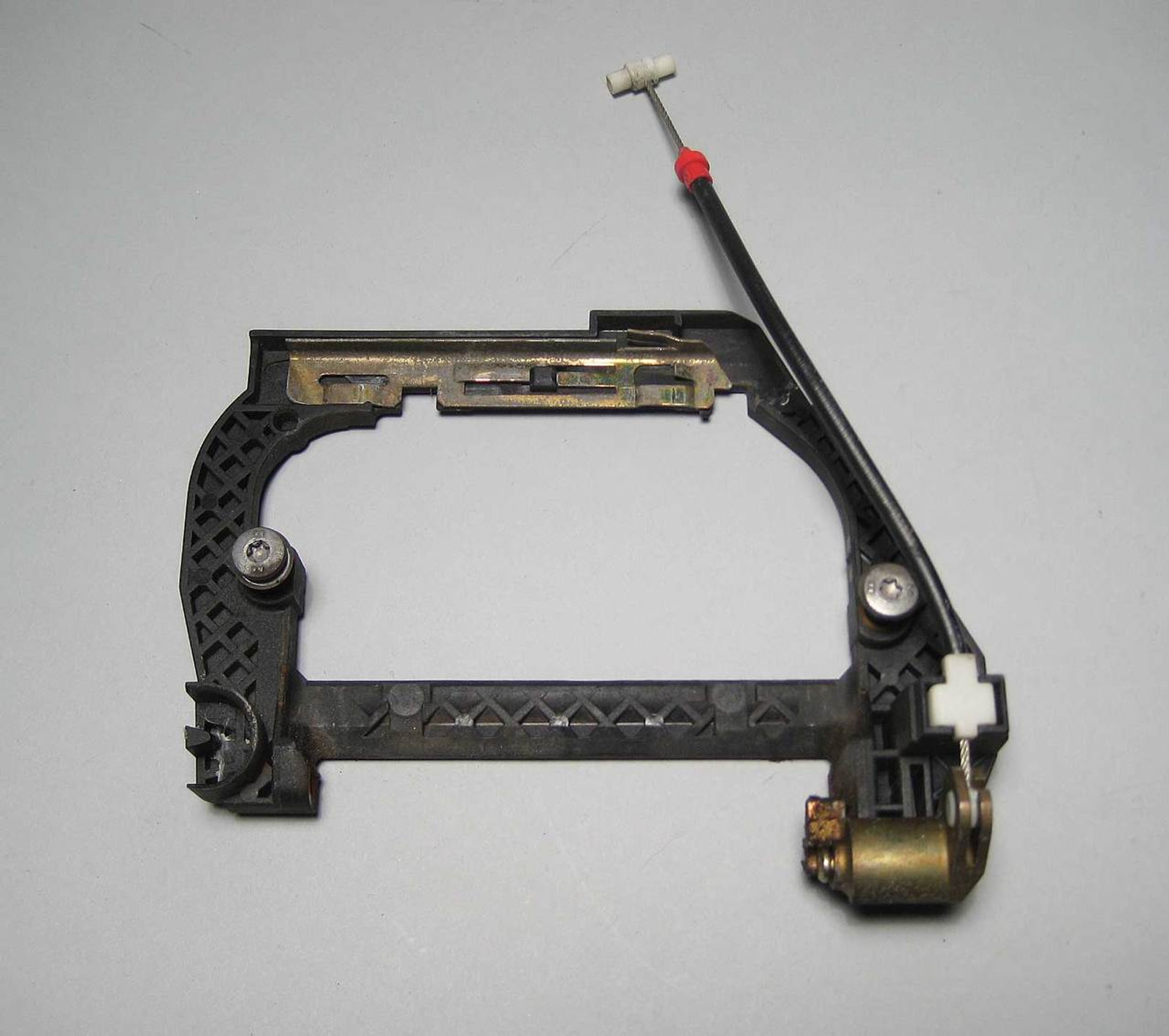 BMW E39 Left Drivers Side Rear Door Handle Frame w Cable 97-03 USED ...