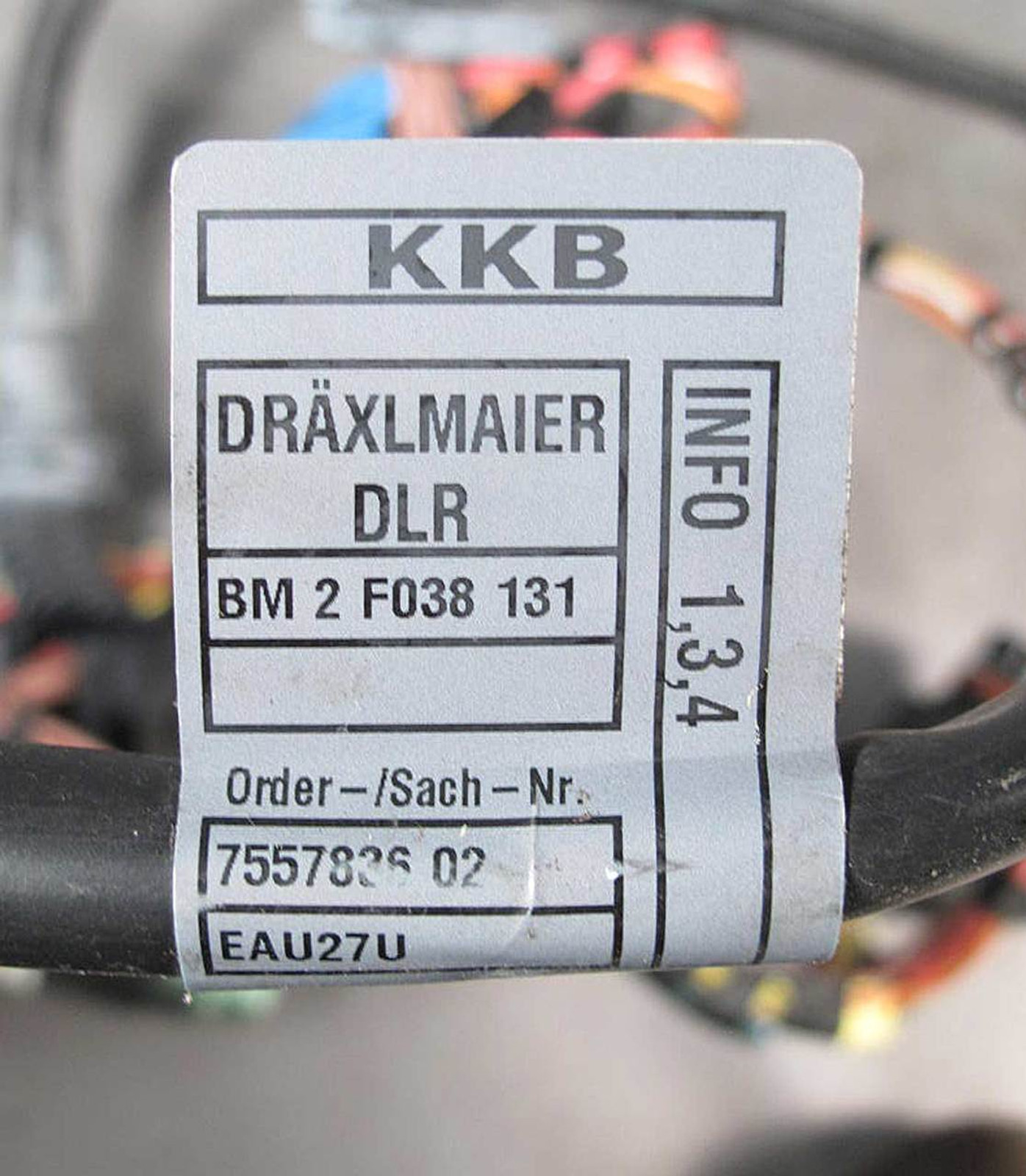BMW E60 E61 5-Series N52 Automatic Transmission Wiring Harness 2006 ...