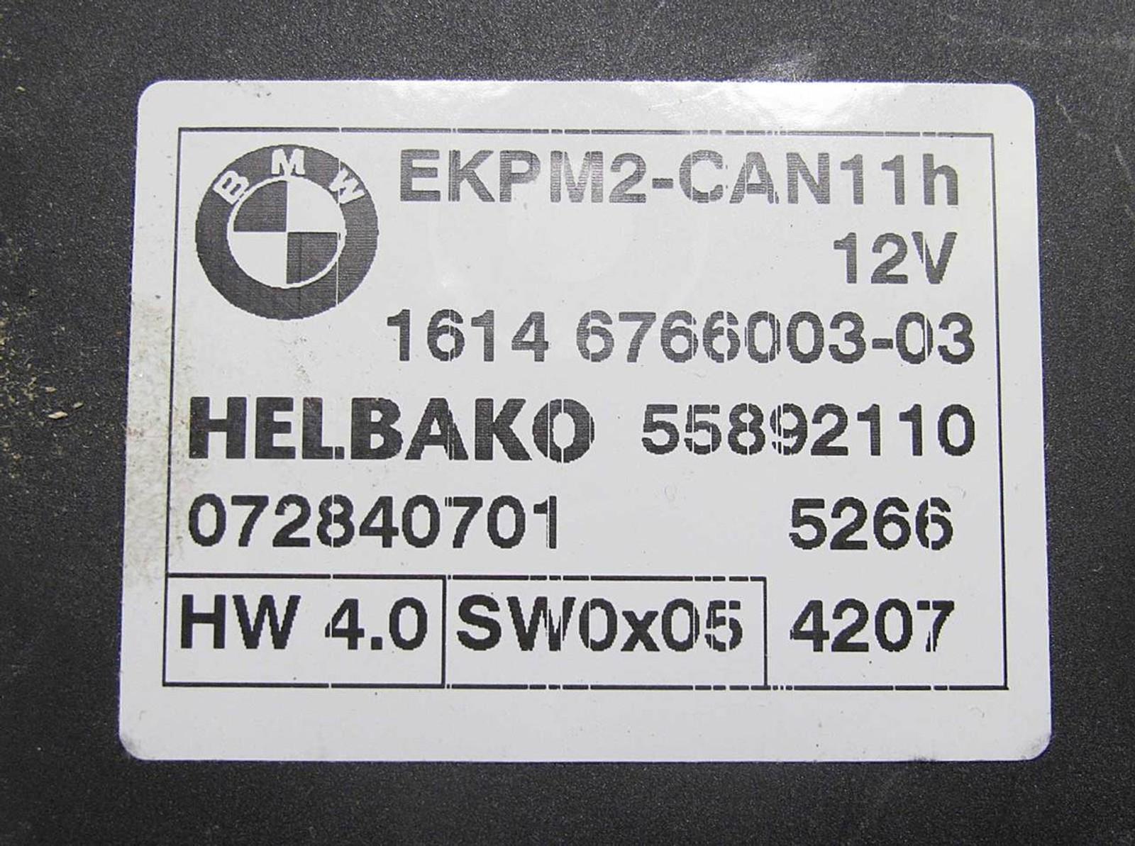 Bmw Z4 Fuel Pump Relay Location E39 Starter Wire Switch E83 X3 E85 E86 Controller Unit Module Ekp
