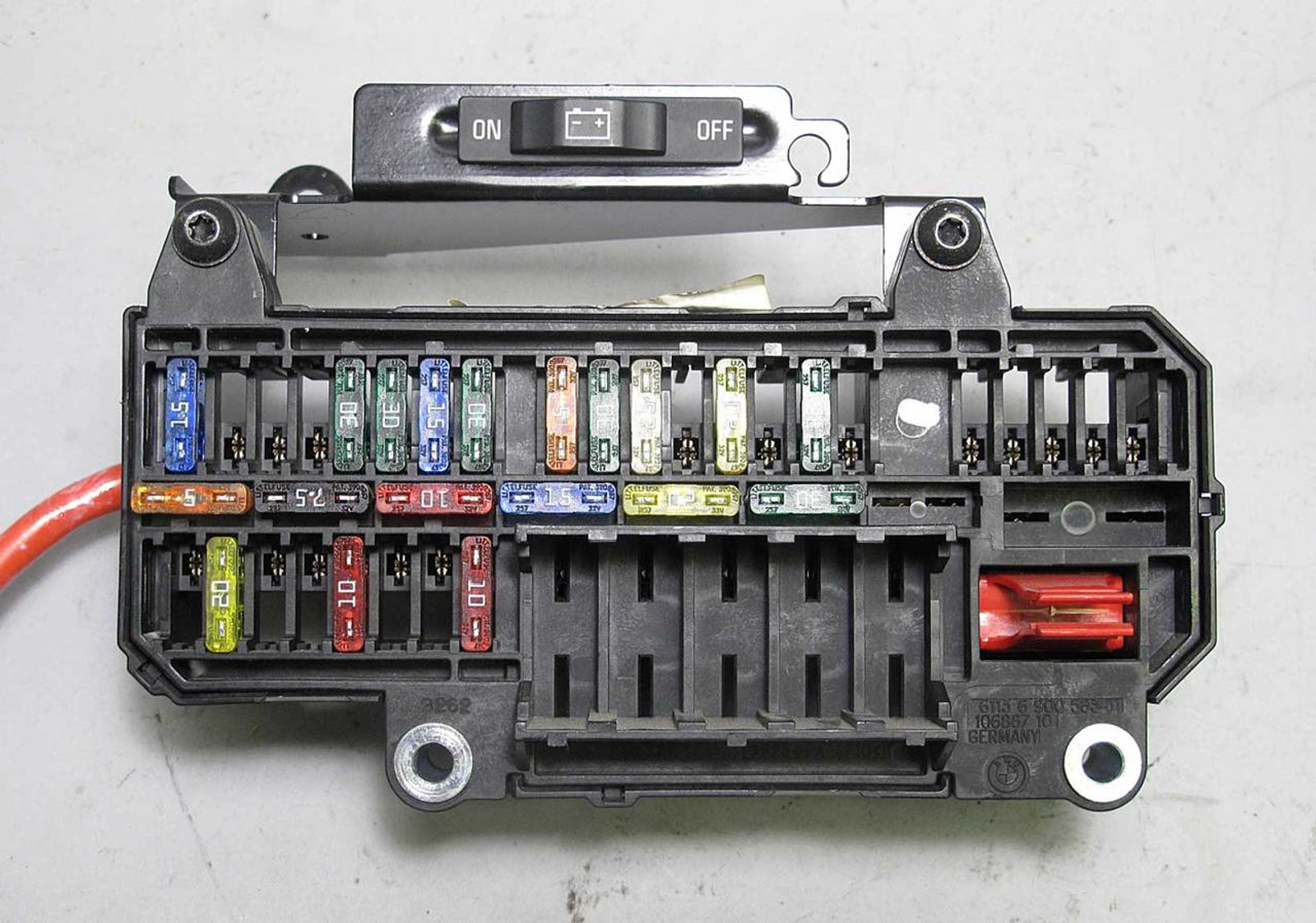 Bmw E65 E66 7 Series Factory Trunk Mount Fuse Box Panel 2002 2008