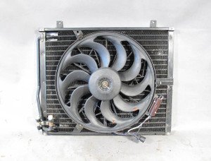 Aftermarket BMW E34 5-Series E32 Air Conditioning Condenser w Aux Pusher Fan