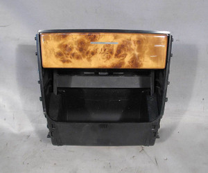 BMW E53 X5 SAV Rear Seat Factory Cupholder Assembly w Wood Trim 2000-2006 USED