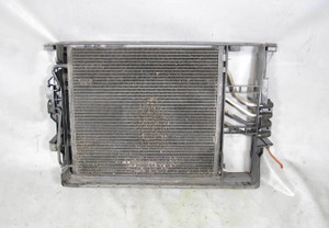 BMW E38 7-Series Early Air Conditioning Condenser w Steering Trans Cooler Frame