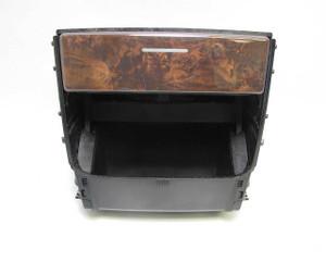 BMW E53 X5 SAV Factory Rear Center Console Cup Holder w Dark Poplar Wood Trim