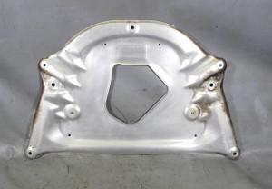 BMW E64 6-Series Convertible Front Belly Pan Reinforcement Plate Aluminum 04-10