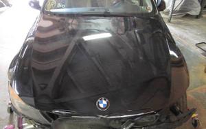 Damaged BMW E90 E91 3-Series 4door Early Factory Hood Bonnet Cover Panel Black