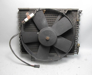 1985-1986 BMW E30 3-Series AC Air Conditioning Condenser w Aux Fan USED OEM