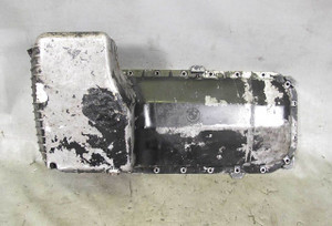 BMW E30 3-Series 6cyl M20 Factory Oil Pan w Patch Repairs 1984-1993 USED OEM