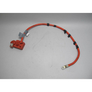 BMW E63 E64 6-Series Late Model Trunk Positive Red Battery Cable w Terminal USED