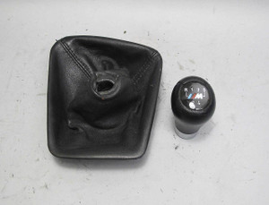 BMW E36 ///M Factory Manual 5-Speed Shifter Knob w Black Leather Boot USED