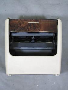 BMW E53 X5 Rear Center Console Cup Holder Dark Poplar Fine Wood Trim 00-06 OEM