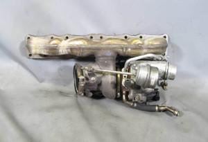 BMW F10 5-Series 7-Series N55 Single Turbocharger Assembly Manifold Wastegate OE