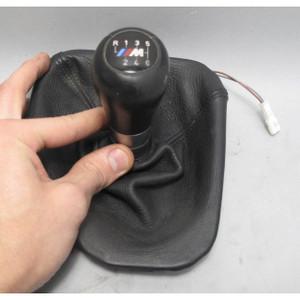 2001-2003 BMW E39 M5 Factory 6-Speed Illuminated Shift Knob Black Leather USED