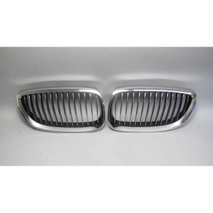 2007-2013 BMW E92 E93 3-Series E90 M3 Factory Kidney Grille Pair w Crack USED