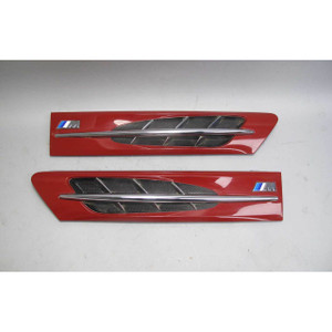 1998-2002 BMW Z3 M Roadster Coupe Side Hood Cowl Grille Pair Imola Red USED OEM