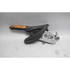 2000-2003 BMW E39 M5 Hand Emergency Brake Lever Wood Black Leather USED OEM