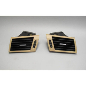 2007-2010 BMW E83 X3 SAV Front Dashboard Side Air Vent Pair Beige USED OEM