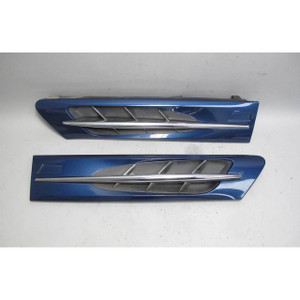1998-2002 BMW Z3 M Roadster Coupe Side Hood Cowl Grille Pair Topaz Blue USED OEM