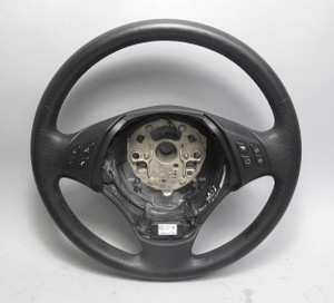 BMW E90 E91 3-Series Factory Heated Multifunction Steering Wheel Leather 06-12 - 14021