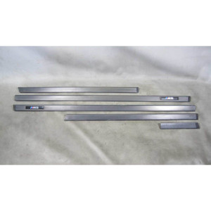BMW E39 M5 Black Protective Plastic Exterior Door Trim Set ///M Factory 00-03 OE - 16411