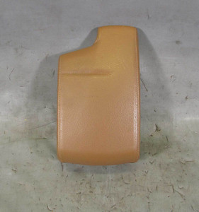 BMW E90 E92 3-Series Front Center Console Armrest Cover Pad Saddle Brown Leather - 13571