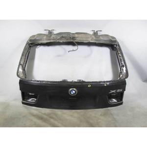 2007-2013 BMW E70 X5 SAV Factory Rear Trunk Hatch Lid Gate Black Sapphire USED - 16330