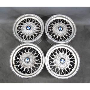 """BMW E34 E32 E24 15"""" 15x7 Style 5 Cross-Spoke Mesh Alloy Wheel Set of 4 88-95 OEM"""