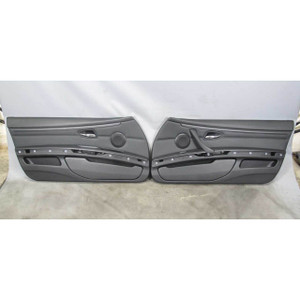2008-2013 BMW E92 E93 3-Series 2dr Front Int Door Panel Trim Skin Black Leather