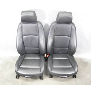 2007-2013 BMW E92 3-Series Coupe Front Sports Seats Black Leather Heat OEM