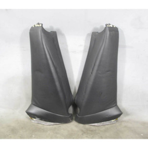 2001-2006 BMW E46 M3 Coupe Rear Seat Backrest Side Lateral Bolsters Black Napa