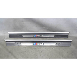 2001-2006 BMW E46 M3 ///M3 Entry Door Sill Cover Pair w Broken Tabs OEM