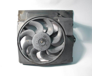 BMW E36 3-Series Aux Auxiliary AC Cooling Pusher Fan w Shroud 1992-1999 OEM USED