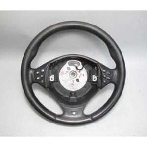 BMW E39 5 Series ///M Sport 3 Spoke Steering Wheel Black Leather 02-03 OEM