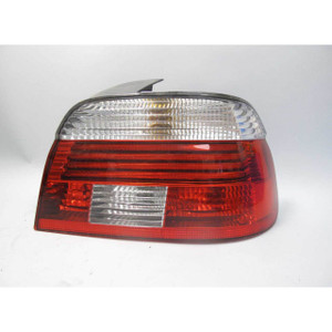 BMW E39 5-Series Right Rear Tail Light Lens White Clear w Crack 2001-2003 USED