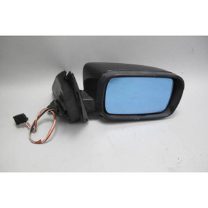 1997-2003 BMW E39 5-Series High Gloss Right Outside Side Mirror Black 2 w Crack