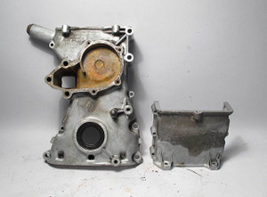 BMW M10 1.8L 4cyl Engine Timing Case Cover Pair Upper Lower E30 E21 114 USED OEM