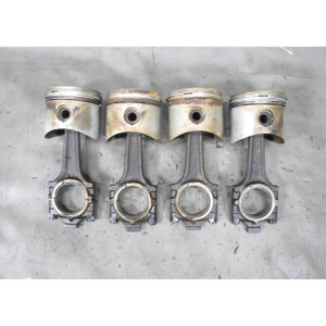1968-1976 BMW 114 2002 2.0L M10 4-Cylinder Piston and Connecting Rod Set of 4 OE