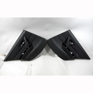2007-2011 BMW E90 3-Series Rear Interior Door Panels Black Leather w/o Speakers