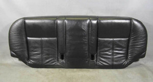 BMW E39 5-Series Sedan Rear Seat Bottom Bench Black Leather 1997-2003 USED OEM - 13336