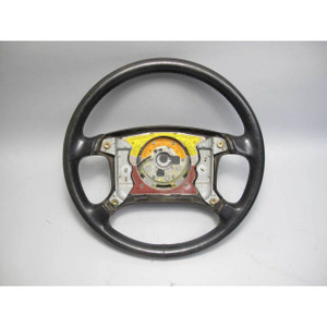 BMW E30 3-Series Late Model Leather Steering Wheel for Airbag 1988-1993 USED OEM - 18010