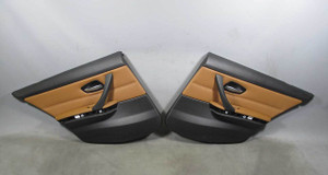 BMW E90 LCI 3-Series Sedan Factory Rear Interior Door Panels Saddle Brown 09-11 - 15710