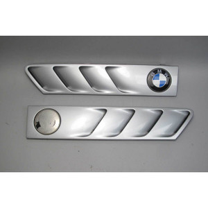BMW Z3 Roadster Coupe Side Cowl Grille Pair Left Right Silver 1996-2002 USED OEM - 17991