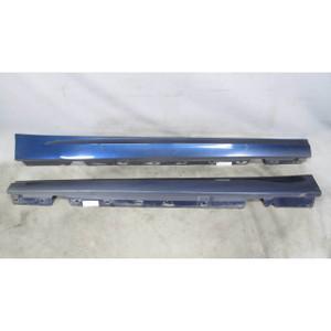 2009-2012 BMW E90 E91 3-Series 4door Outside Side Skirt Rocker Panel Pair Blue - 17873