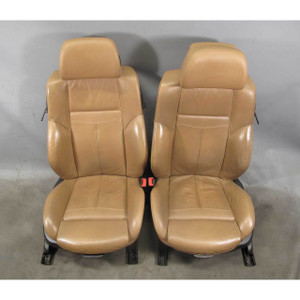 BMW E63 6-Series Front Factory Sports Seat Pair Saddle Brown Precision Leather - 18051