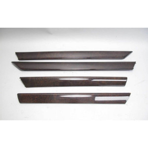 1999-2005 BMW E46 3-Series 4door Interior Door Wood Trim Set Front Rear Myrtle - 18902
