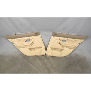 1997-2003 BMW E39 5-Series Rear Int Door Panel Trim Skin Beige Leather Shades OE - 19342