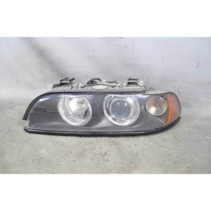 2001-2003 BMW E39 5-Series Late Model Left Front Headlight Lamp Xenon White Lens - 19345