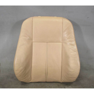 1999-2003 BMW E39 5-Series E38 Front Sports Seat Backrest Beige Leather OEM - 19332